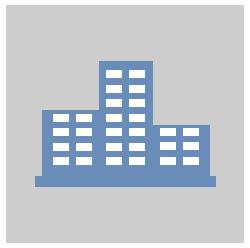 Logo d'une Entreprise de sécurité privée de couleur bleu et un fond gris clair