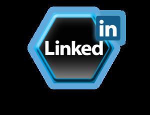 Logo du réseau social d'Entreprise Linkedin en forme d'octogone.