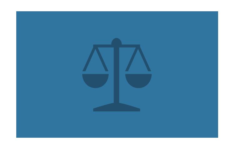 Symbole d'une balance représentant la loi.