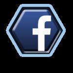 """Logo Facebook du réseau social le plus connu au monde. Il en forme d'octogone, de couleur bleue avec la lettre """"F"""" minuscule en blanc au centre."""